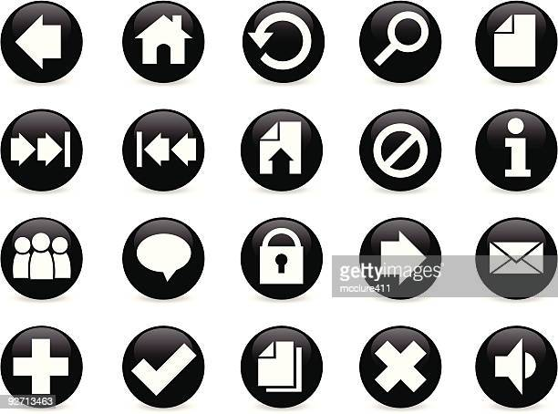 Web (Application) Icon Buttons