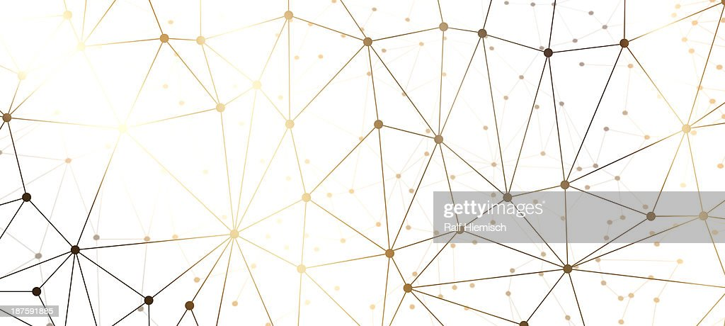 A web of dots connected by lines against a black background : Stock Illustration