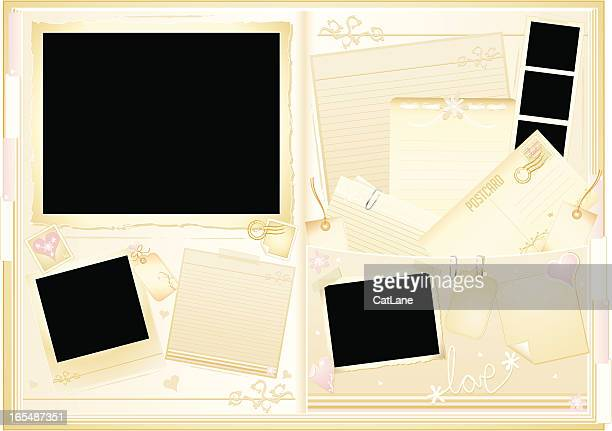 wedding memory book - gift tag note stock illustrations, clip art, cartoons, & icons