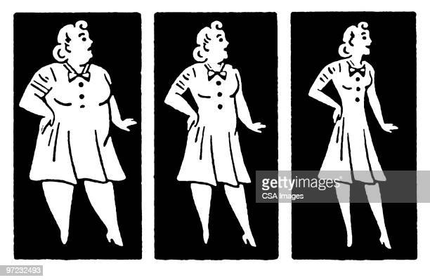 weight loss - slim stock illustrations
