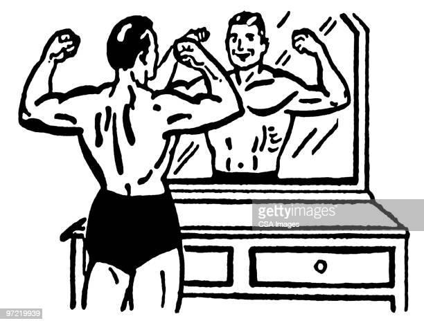 illustrations, cliparts, dessins animés et icônes de weightlifter - devant