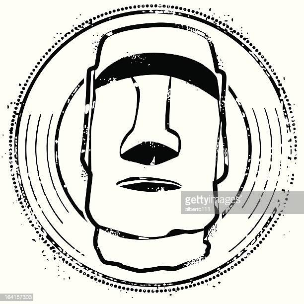 welcome to easter island - easter island stock illustrations, clip art, cartoons, & icons