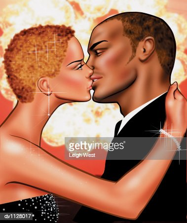 dress up couples kissing