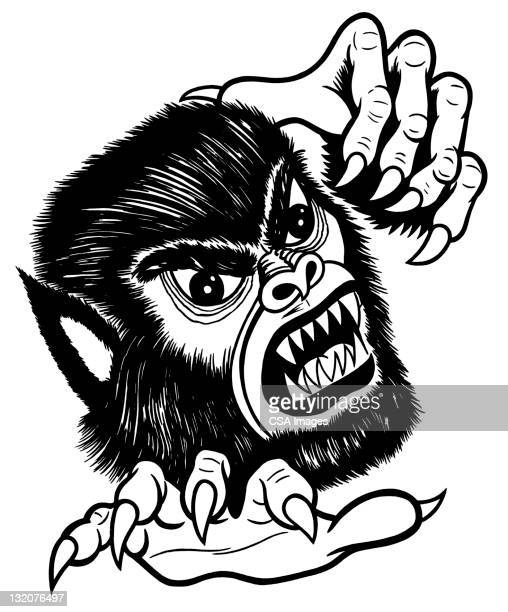werewolf - agression stock illustrations, clip art, cartoons, & icons