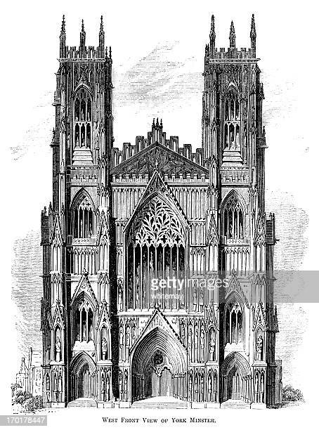 West Front of York Minster (Victorian woodcut)