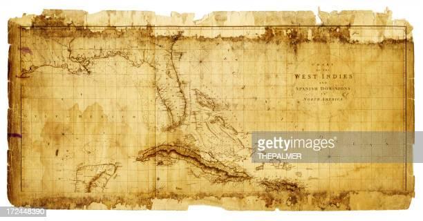 西インド諸島アンティークの地図 1803