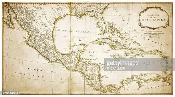 西インド諸島マップ 1794