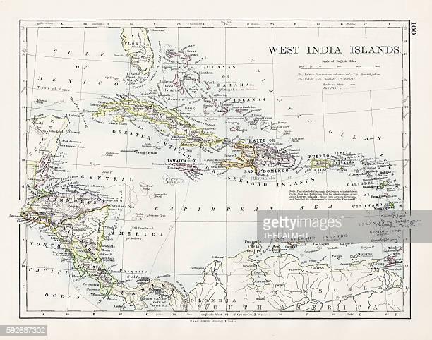 West indies map 1897
