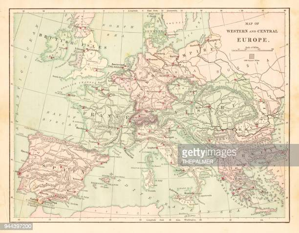Western and Central Europe map 1881