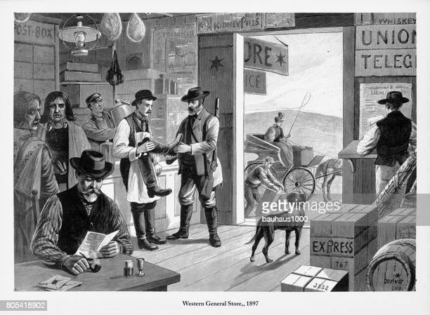 Western General Store, Early American Engraving, 1897