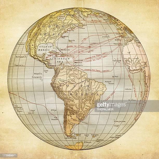 illustrations, cliparts, dessins animés et icônes de hémisphère occidental expéditions - hémisphère