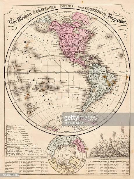 西半球マップ 1867 - 西点のイラスト素材/クリップアート素材/マンガ素材/アイコン素材