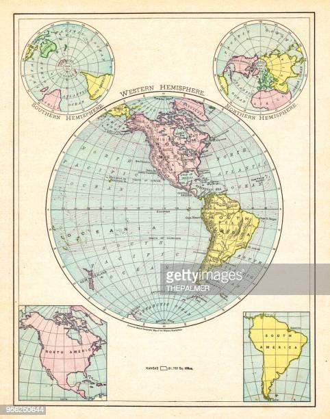 Western Hemisphere map 1895