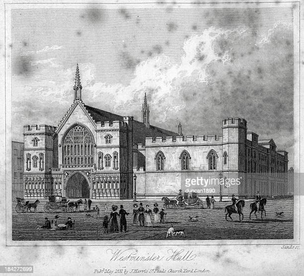 westminster hall - entrance hall stock illustrations, clip art, cartoons, & icons