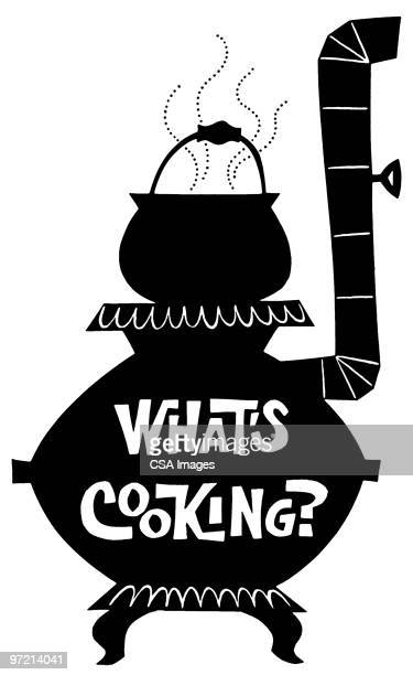 what's cooking? - steam stock illustrations