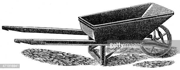 wheelbarrow - wheelbarrow stock illustrations, clip art, cartoons, & icons
