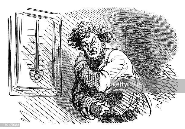 when the temperature changes, rheumatism strikes - massage funny stock illustrations
