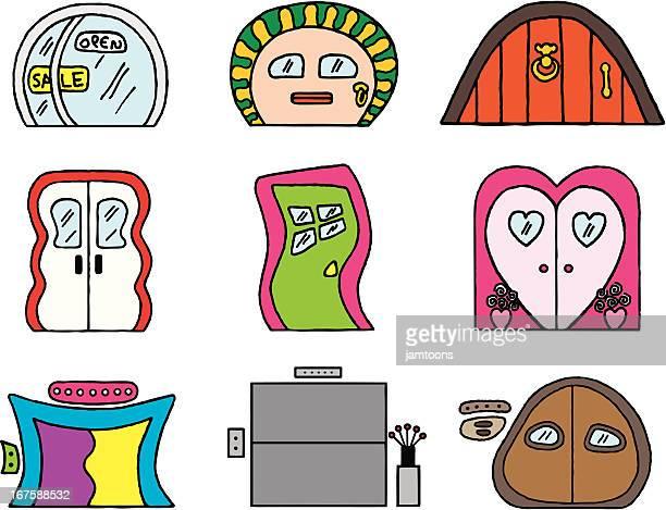 illustrations, cliparts, dessins animés et icônes de portes original - marteaudeporte