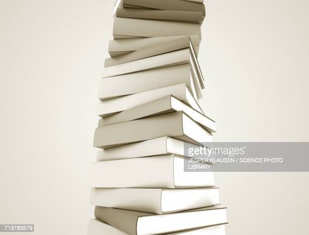 white books in a stack - stack stock illustrations