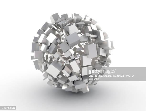 White cubes making a circle shape