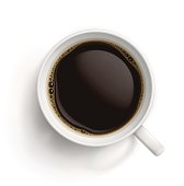White cup with black coffee