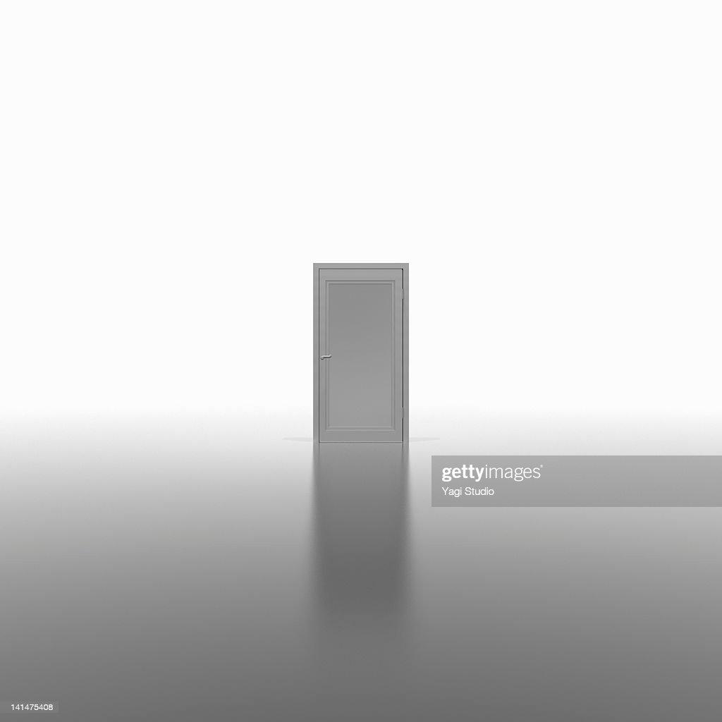 A white door,CG : stock illustration