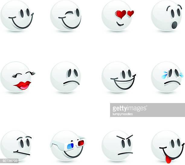 White Glass Emoticons