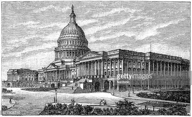white house - capital cities stock illustrations