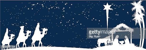 ilustraciones, imágenes clip art, dibujos animados e iconos de stock de nativity blanco - los tres reyes magos