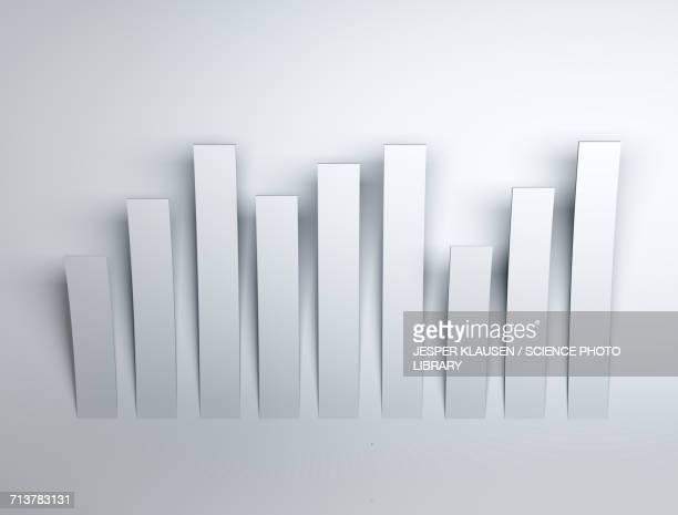white rectangles - graph stock illustrations