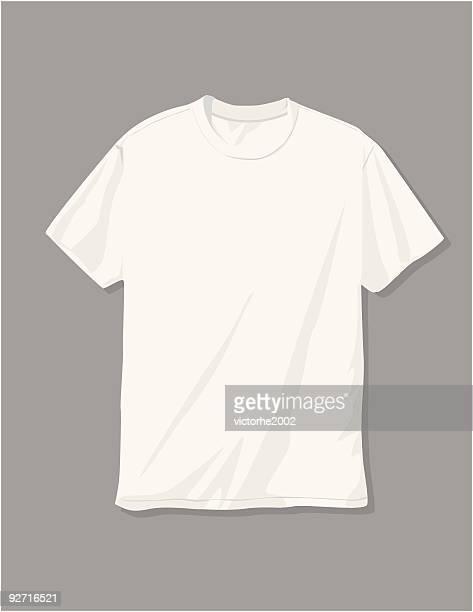 stockillustraties, clipart, cartoons en iconen met white t-shirt - t shirt