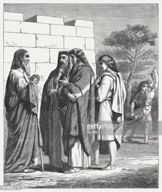 ilustrações, clipart, desenhos animados e ícones de quem anda com os sábios será sábio (sirach 6,35) - bíblia