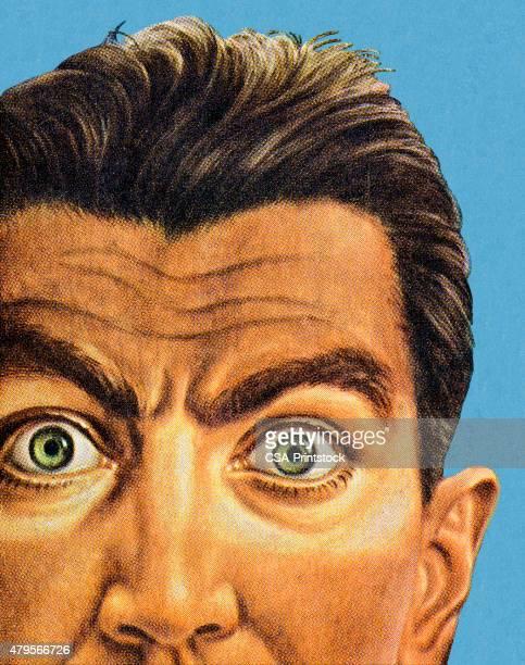 ワイドアイドマン - 驚き点のイラスト素材/クリップアート素材/マンガ素材/アイコン素材