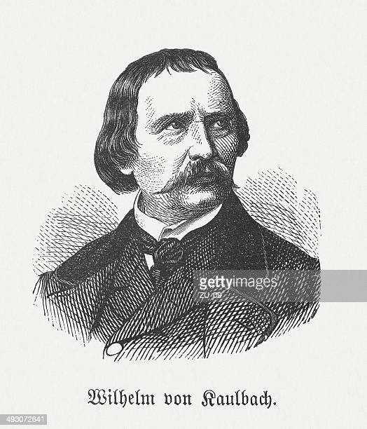Wilhelm von Kaulbach (German painter, 1805-1874), wood engraving, published 1881