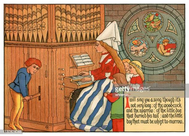 'I Will Sing You a Song Though It's Not Very Long' - Victorian nursery rhyme illustration