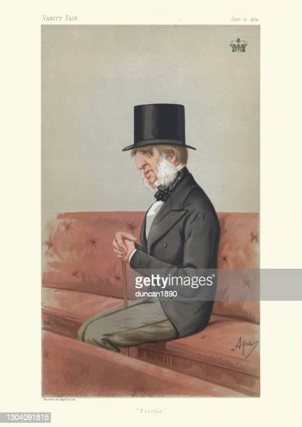stockillustraties, clipart, cartoons en iconen met william cavendish, 7e hertog van devonshire, ijdelheid eerlijke karikatuur - duke