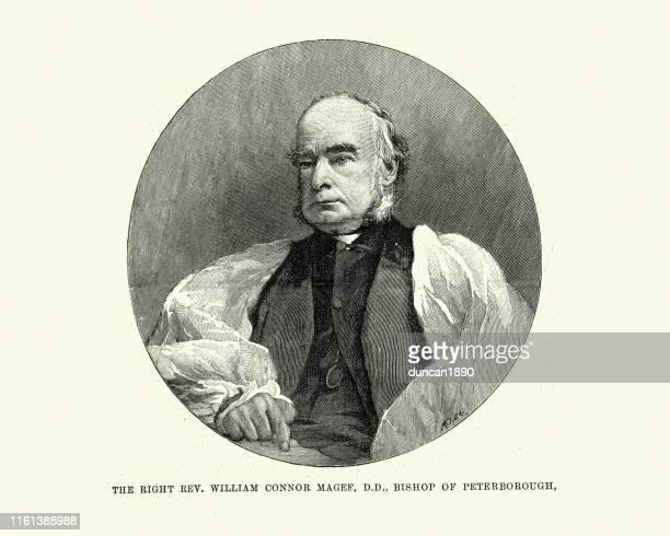 ilustrações, clipart, desenhos animados e ícones de william connor magee. bishop de peterborough, archbishop de york - bishop clergy