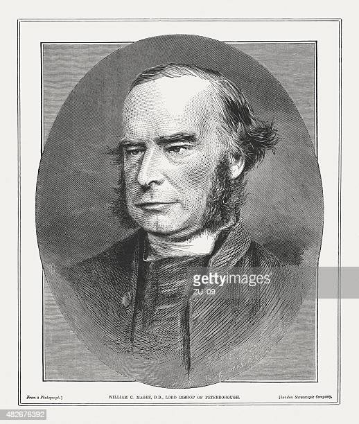 william connor magee (1821 - 1891), irish clergyman, published 1873 - anglican stock illustrations