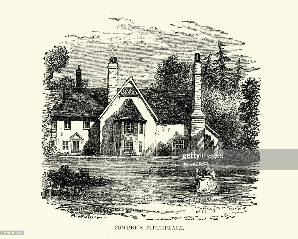 William Cowper's Birthplace : stock illustration