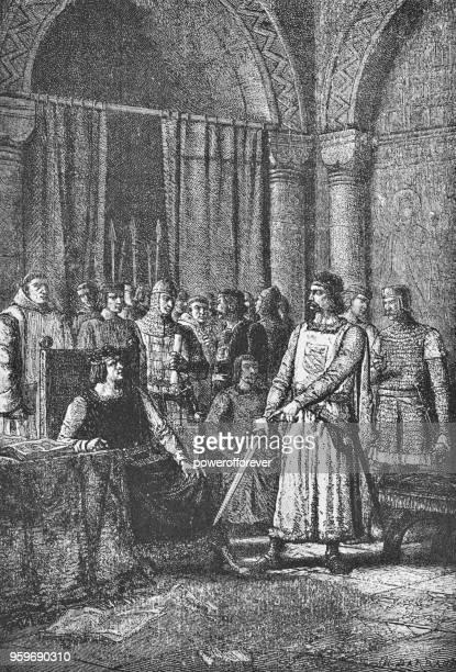 William de Warenne declarando el título a sus tierras - siglo XI