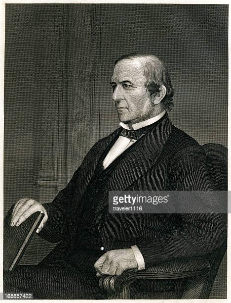 william ewart gladstone - 19th century stock illustrations