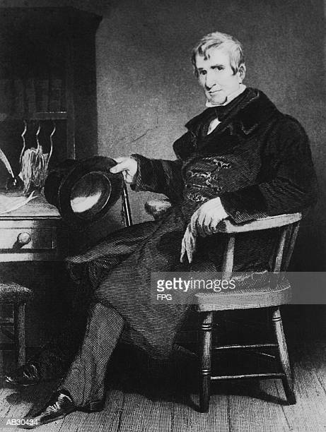 william henry harrison (1773-1841), 9th us president (b&w) - governor stock illustrations, clip art, cartoons, & icons