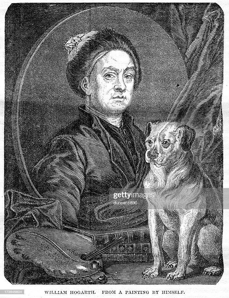 William Hogarth : stock illustration