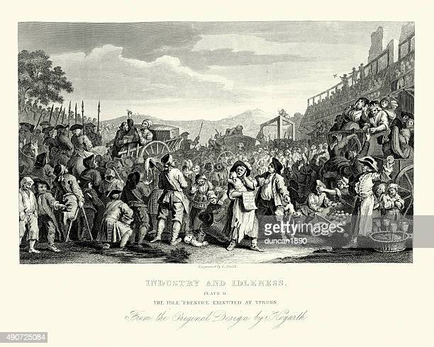 William Hogarth Industry and Idleness Idle Prentice Executed at