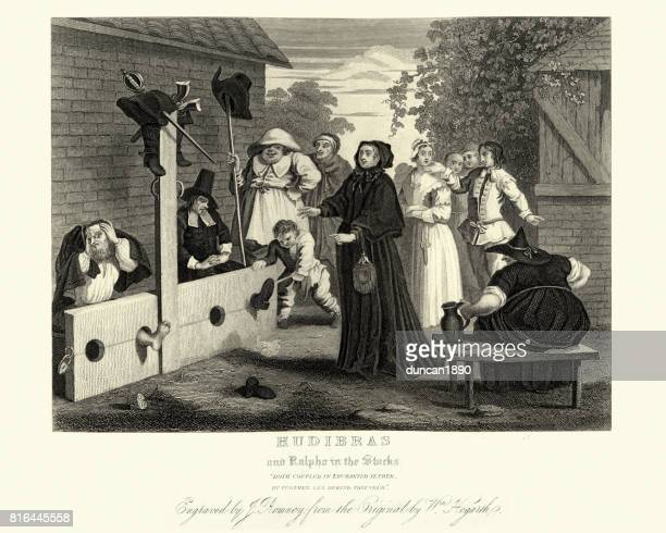 William Hogarth's Hudibras and Ralpho in the Stocks