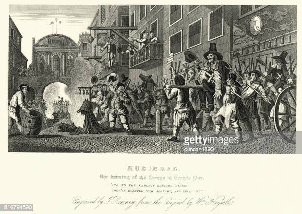 William Hogarth's Hudibras burning of the Rumps at Temple Bar