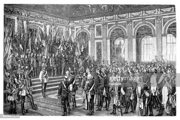 William I, proclaimed German Emperor, Versailles 1871