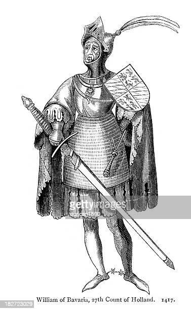 bildbanksillustrationer, clip art samt tecknat material och ikoner med william ii, duke of bavaria - duke