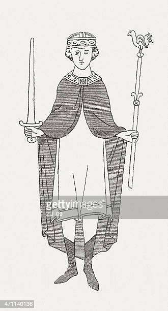 William II of England ( c.1056-1100), wood engraving, published in 1881