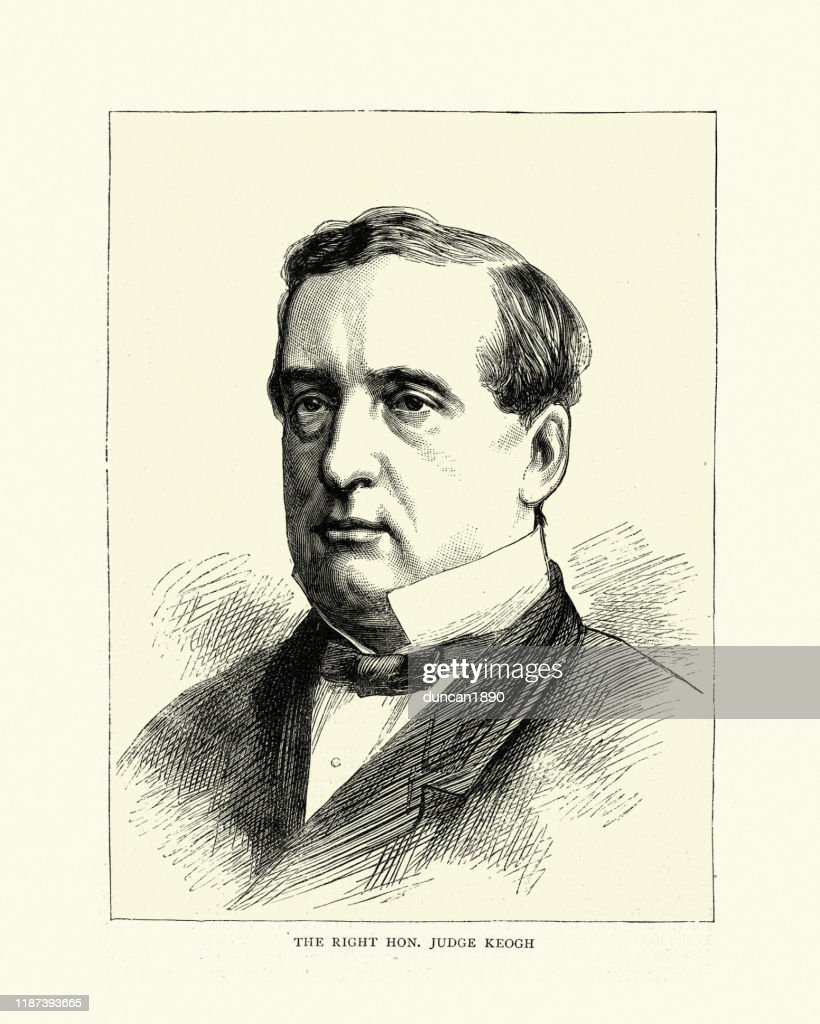 William Keogh, Irish politician and judge, 19th Century : Stock Illustration